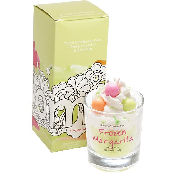 Bomb Cosmetics - Piped Glass Candle Frozen Margarita