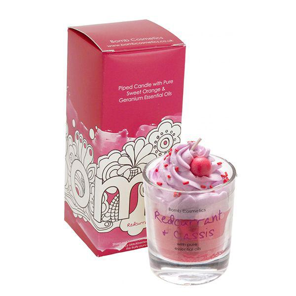 Bomb Cosmetics - Piped Glass Candle Redcurrant-Cassis