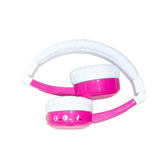 BUDDYPHONES InFlight Travel Headphones for Kids, Foldable volume limiting, Pink (2037382742073)