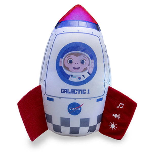Cuddle Barn - Musical Plush Space Rocket Dream Ship 10""