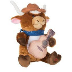 Cuddle Barn - Musical Plush Lonestar The Longhorn 12""