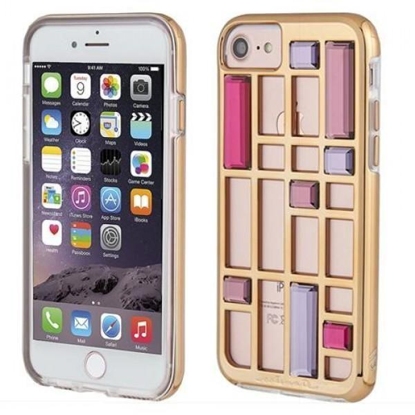 Case-Mate - iPhone 8/7 Caged Crystal - Rose Gold