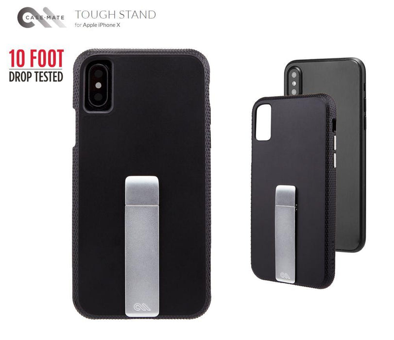 Case-Mate - iPhone X/XS Tough Stand - Black/Sliver