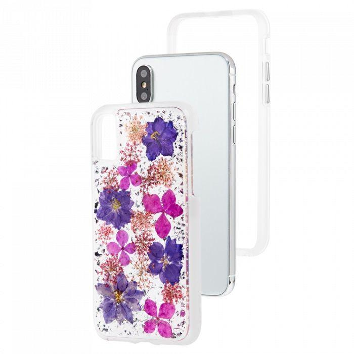 Case-Mate Karat Petals for iPhone XS/ X, Purple