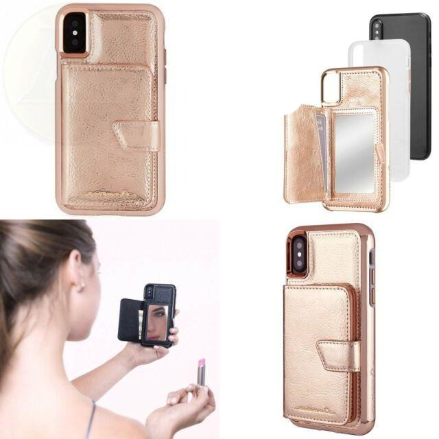 Case-Mate Compact Mirror Case for iPhone X/Xs, Rose Gold (2037388574777)