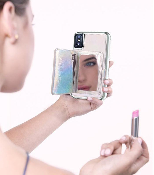 Case Mate Compact Mirror Case for iPhone X, Iridescent (2037386149945)