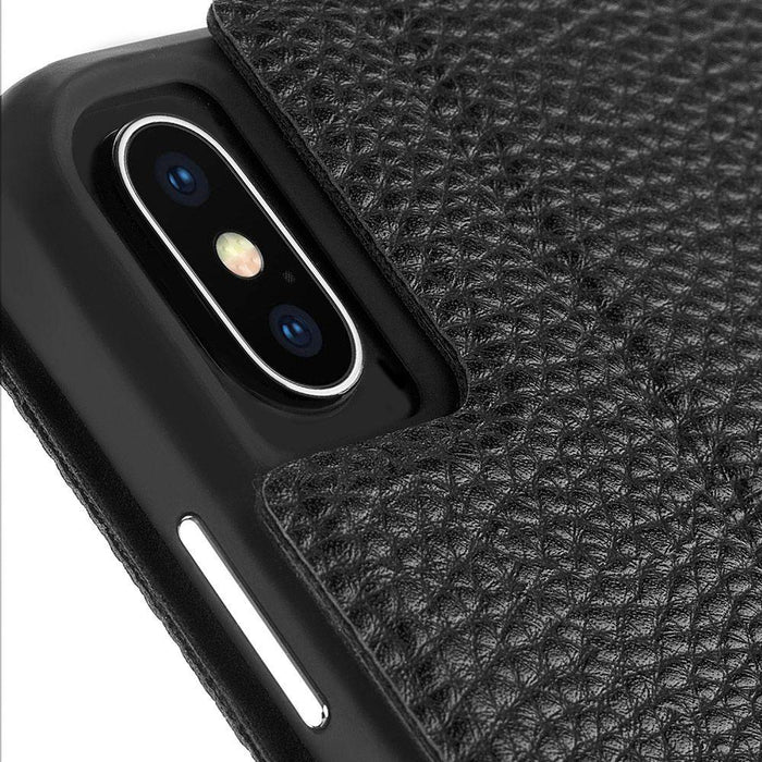Case-Mate   - iPhone X/XS Barely There Folio - Black