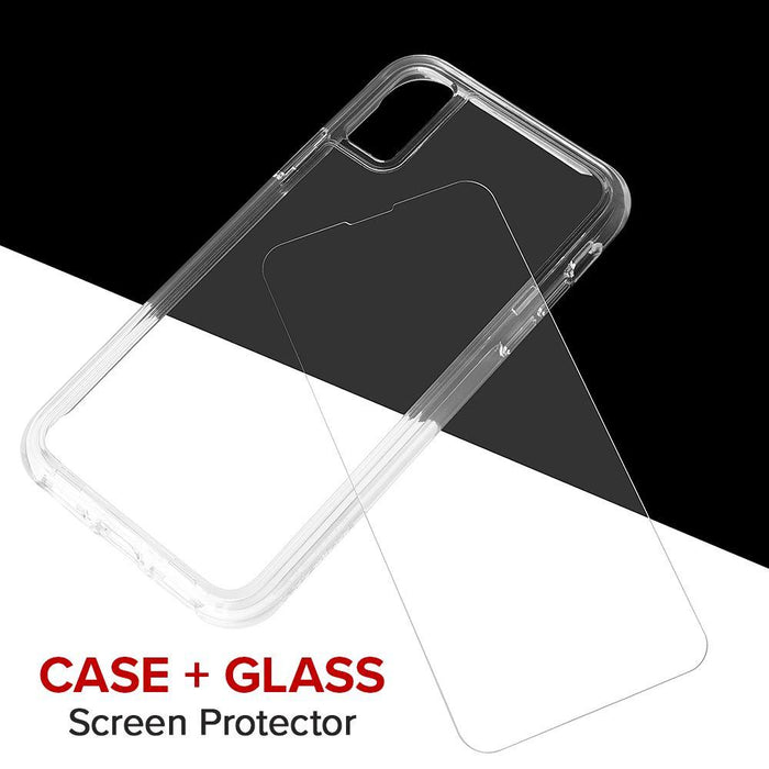 Case-Mate   - iPhone XR Case + Glass Screen Protector Bundle - TOUGH Clear