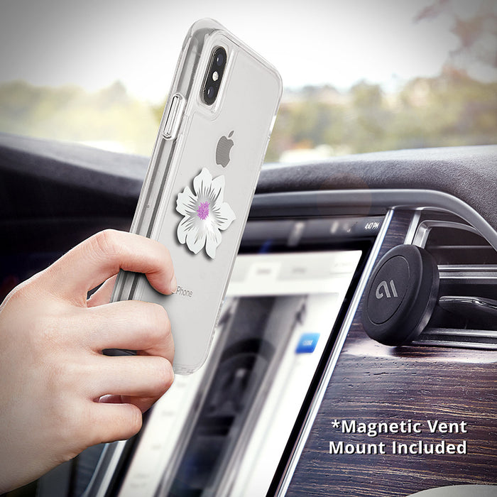 Case-Mate - Car Charms Magnetic Vent Mount Kit - White Flower