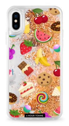 Casetify Iphone X - Glitter Case - Unicorn - Sweet Emojis