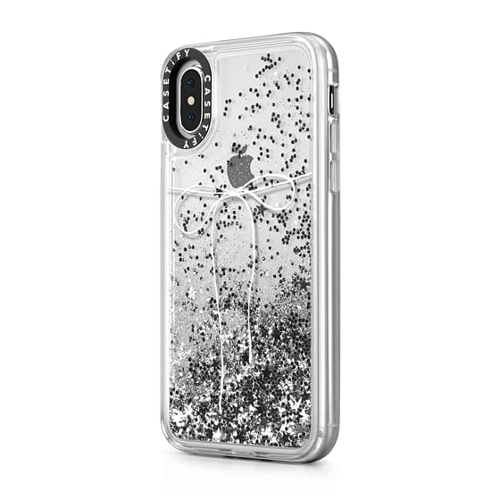 Casetify - iPhone X/XS Glitter Case Take A Bow - Silver
