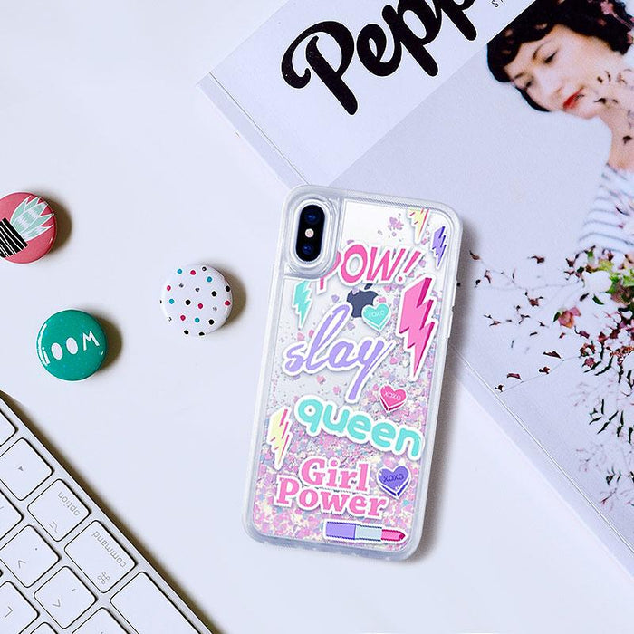 Casetify Iphone X - Glitter Case - Unicorn - Slay Queen (2037382938681)