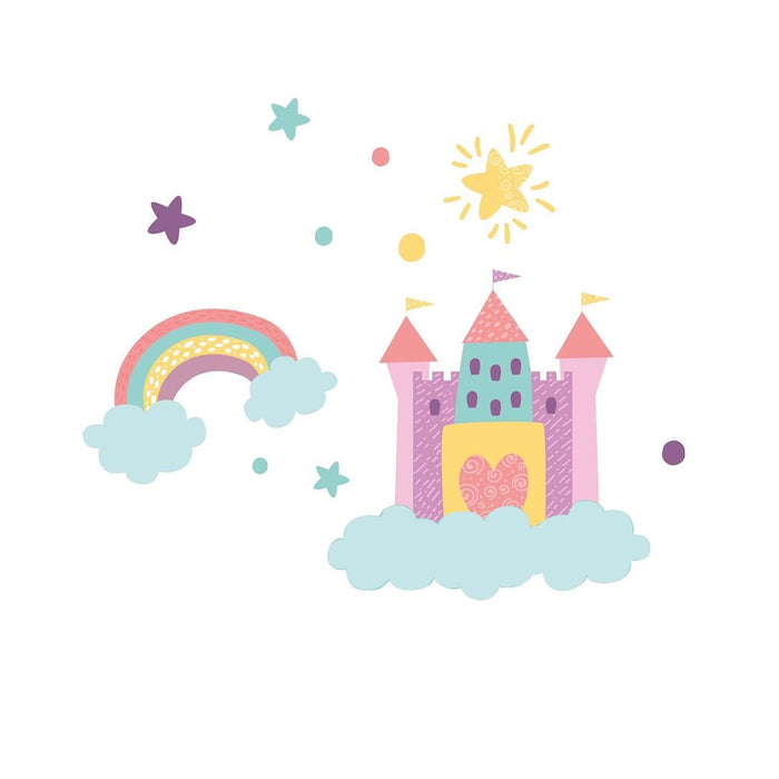 "Paper11   - Wall Decal ""Dream Castle"" Small"