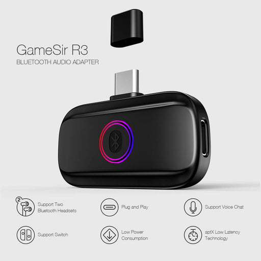 GameSir, Switch Bluetooth Audio Adapter, Black