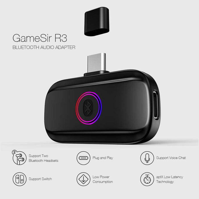 GameSir    - R3 Bluetooth Audio Adapter for Wireless Gaming Headphones