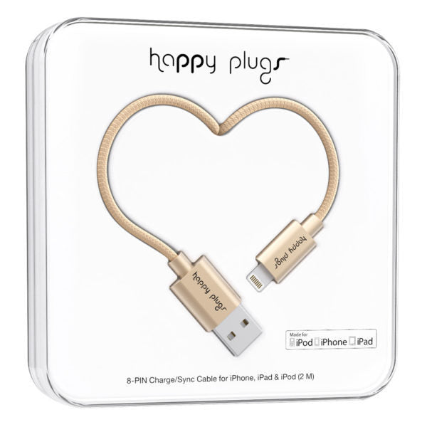 Happy Plugs, Lightning To USB 2.0M, Champagne