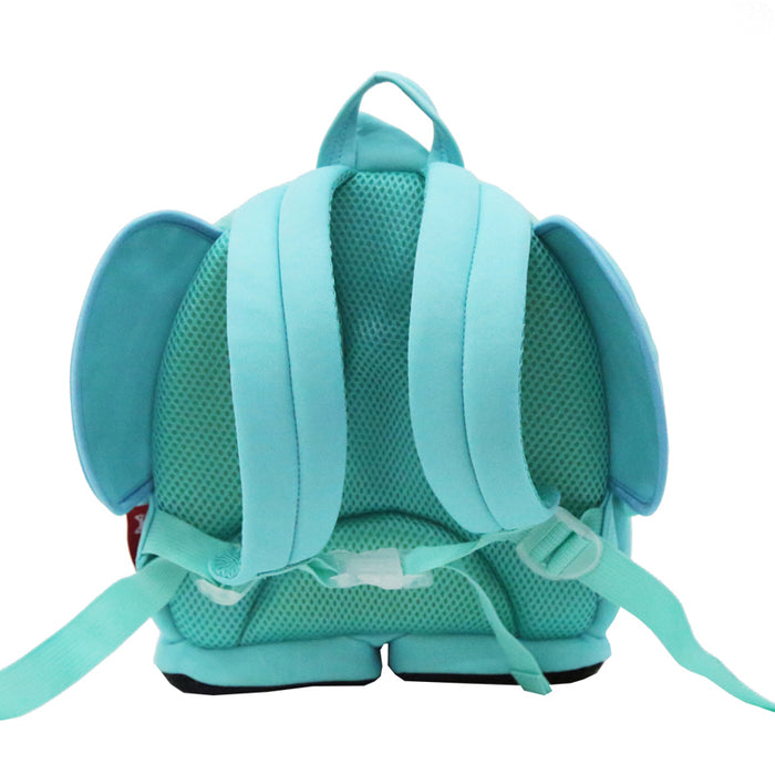 Nohoo - Elephant 3D Water Resistance Kids Backpack - 4 to 8 Years - Blue