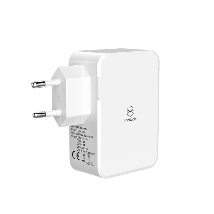 Mcdodo - Ultra Fast 3 Ports Dual USB Charger - White