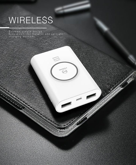 Mcdodo - Wireless Charging Power Bank 8000mAh - White