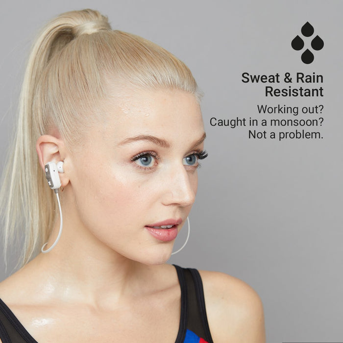 JamAudio - Live Large Sweat Resistant Wireless Bluetooth Earbuds - Grey
