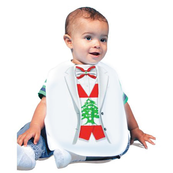 Just Add A Kid  - Bib Tuxedo Lebanon One-Size - up to 12 Months