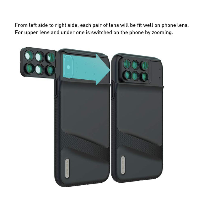 Momax - X-Lens iPhone XS Max 6-in-1 Lens Case - Black