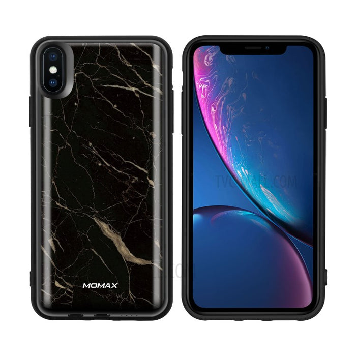 Momax - iPhone XS Max Q.Power Pack Magnetic Wireless Battery Case 6000mAh - Marble Black