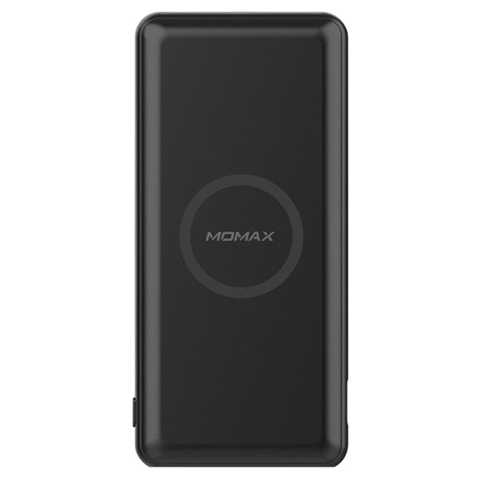 Momax - Q. Power 10,000mAh Minimal Wireless Charging External Battery Pack - Black