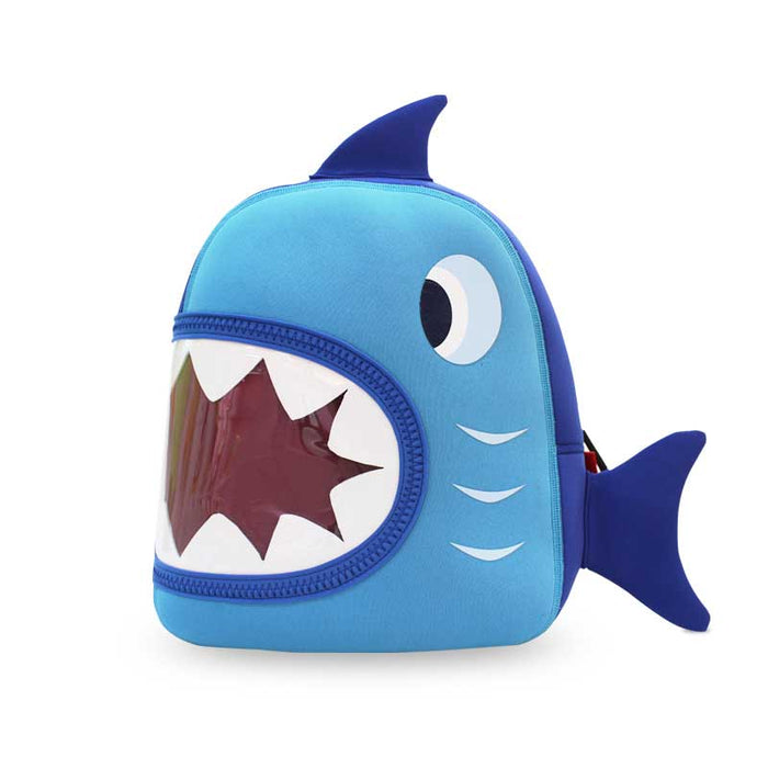 Nohoo - Shark 3D Water Resistance Kids Backpack - 2 to 6 Years  - Blue