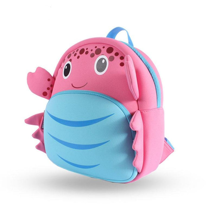 Nohoo - Crab 3D Water Resistance Kids Backpack - 3 to 8 Years - Pink