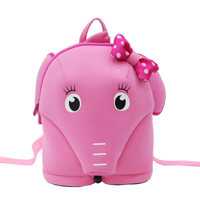Nohoo - Elephant 3D Water Resistance Kids Backpack - 4 to 8 Years - Pink
