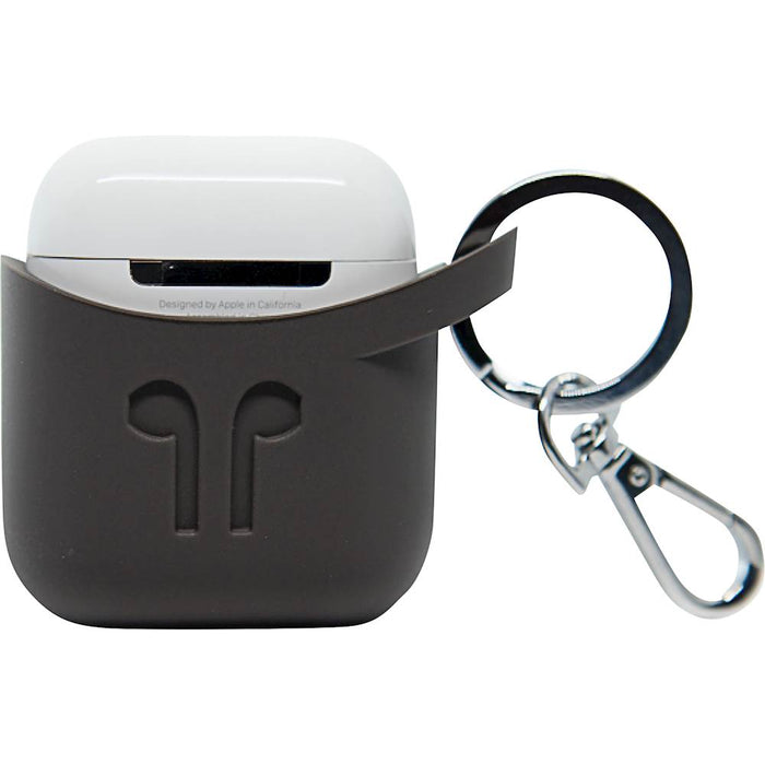 PodPocket   - Silicone Case for Apple Airpods - Cocoa Gray