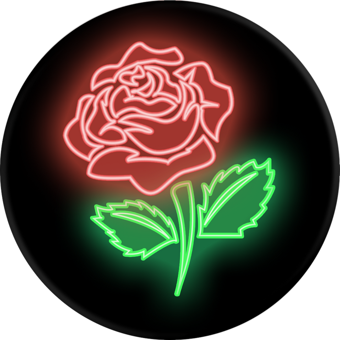 PopSockets   - Phone Grip Single Rose Neon