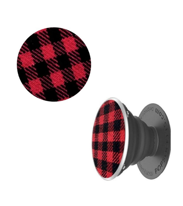 PopSockets - Phone Grip Single Classic Check Red
