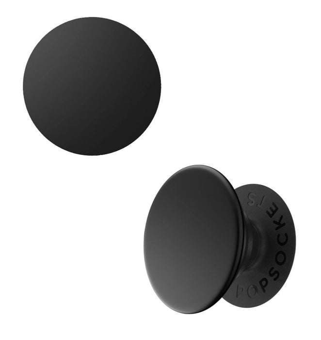 PopSockets - Phone Grip Swappable Aluminum Black