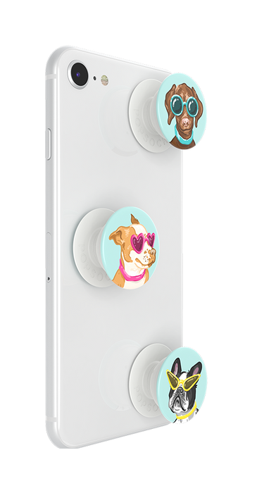 PopSockets - Phone Grip PopMinis Dogs In Sunglasses On Light Green