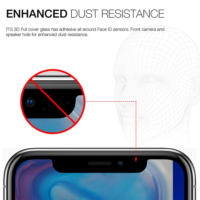 Patchworks - iPhone X/XS ITG 3D Full Cover Impossible Tempered Glass - Black