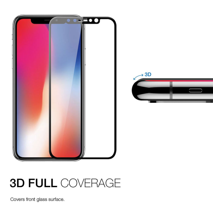 Patchworks ITG 3D Full Cover Impossible Tempered Glass for iPhone X, Black