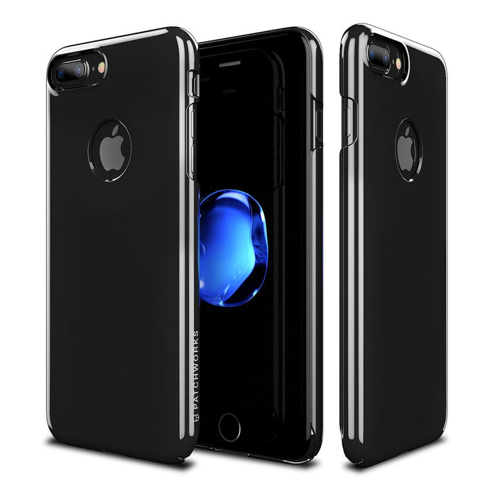 Patchworks - iPhone 8/7+ Pureskin Case - Jet Black