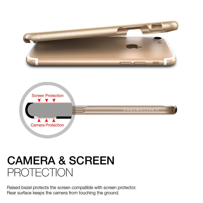 Patchworks Pureskin Case for iPhone 7/8, Champagne Gold