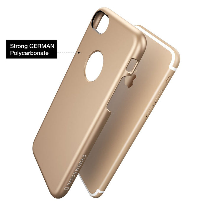 Patchworks Pureskin Case for iPhone 7/8, Champagne Gold (2037387919417)