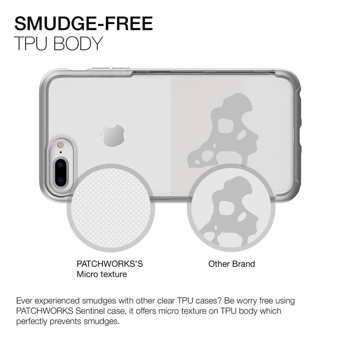 Patchworks Sentinel Case For iPhone 7/8+, Silver (2037383168057)