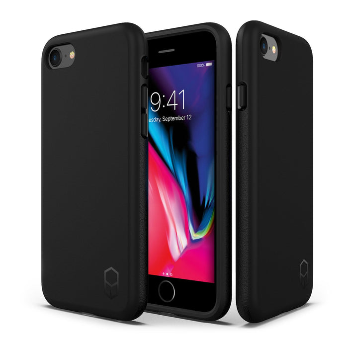 Patchworks ITG Level Case for iPhone 7/8, Black/Clear