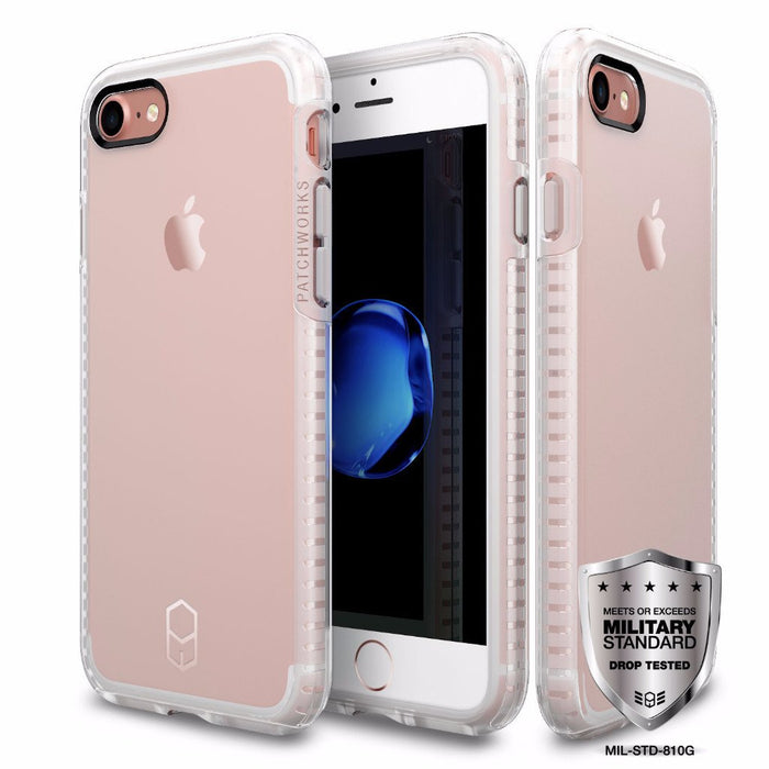 Patchworks ITG Level Case For iPhone 7/8+,  Clear/Pink