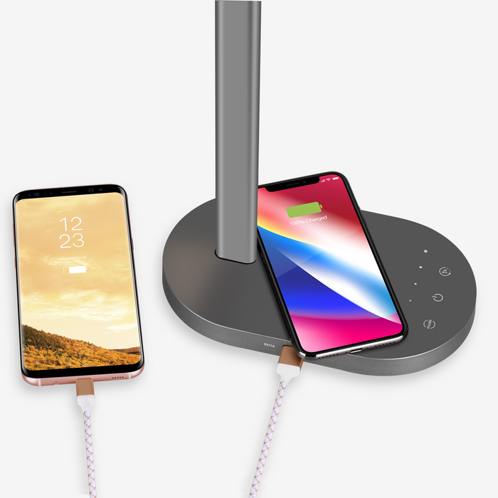 Momax - Q-LED Desk Lamp with Wireless Charging Base - Space Grey
