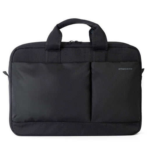 "Tucano Piu Bag 13"" and 14"" slim bag for laptop up to 14"" and MacBook Pro 15"" Retina, Black (2037392670777)"