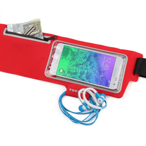"Tucano Sport Waistband for smartphones up to 5"", Red"