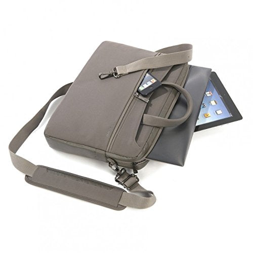 "Tucano - Work Out 2 Macbook 13"" Slim Brief Slim Bag with Removable Strap & anti-shock system - Grey"