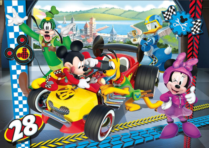 Clementoni   - Disney Mickey and the Roadster Racers Puzzle  24pcs