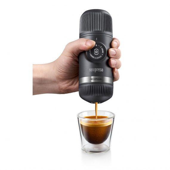 Wacaco - Nanopresso Portable Espresso Maker, Upgrade Version of Minipresso Compatible with Ground Coffee + Case